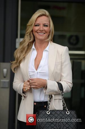 Michelle Mone - Michelle Mone leaves the BBC Breakfast Studio, after appearing on the show. - Manchester, United Kingdom -...