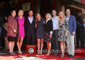 Chris O'Donnell, Siblings and Mother Julie Ann Rohs von Brecht O'Donnell - Chris O'Donnell is honored with a star on...