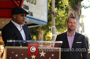 LL Cool J and Chris O'Donnell - Shots of American actor Chris O'Donnell as he was honored with a star...
