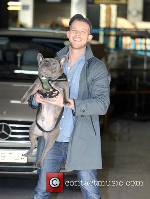 Russell Tovey - Russell Tovey and his dog Rocky outside the ITV Studios - London, United Kingdom - Thursday 5th...
