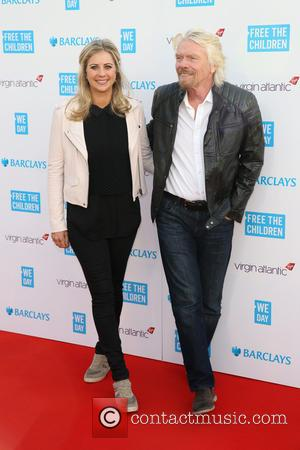 Holly Branson and Sir Richard Branson - Shots of a host of stars as they arrive for 'We Day UK'...