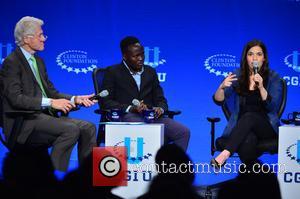 America Ferrera, Paul Lorem and Bill Clinton