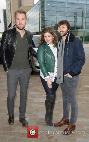 Charles Kelley, Hillary Scott and Dave Haywood - Lady Antebellum arrive at the BBC Breakfast studios at MediaCityUK ahead of...