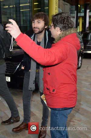 Dave Haywood - Lady Antebellum arrive at the BBC Breakfast studios at MediaCityUK ahead of an appearance on the show...