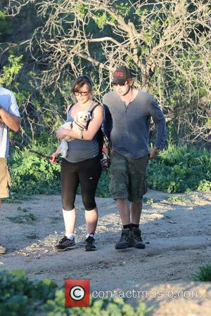 Milla Jovovich and Paul W.S. Anderson - The pregnant actress Milla Jovovich was seen hiking with her husband Paul W.S....