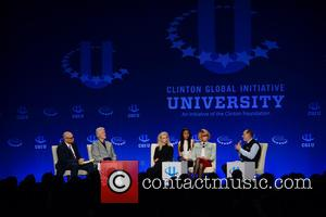 Larry Wilmore, Bill Clinton, Maria Alekhina, Nadezhda Tolokonnikova and Paul Farmer