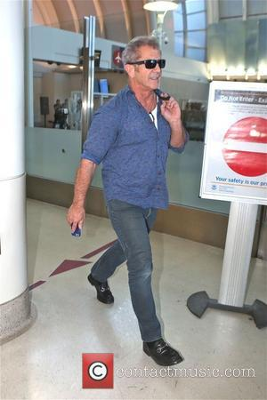 American Hollywood star Mel Gibson was photographed looking relaxed as he arrived in to LAX airport in Los Angeles, California,...