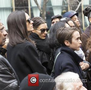 Jennifer Connelly and her son - 2015 International Women's Day March at Dag Hammarskjold Plaza at Dag Hammarskjold Plaza, NY...