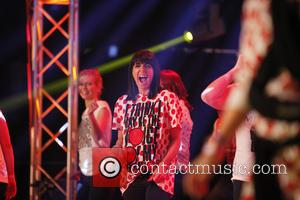 Claudia Winkleman - Celebrities take part in the Comic Relief Danceathon for Red Nose Day at the The SSE Arena,...