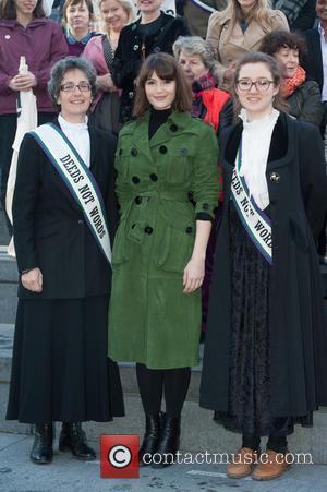 Gemma Arterton, Helen Pankhurst and Laura Pankhurst