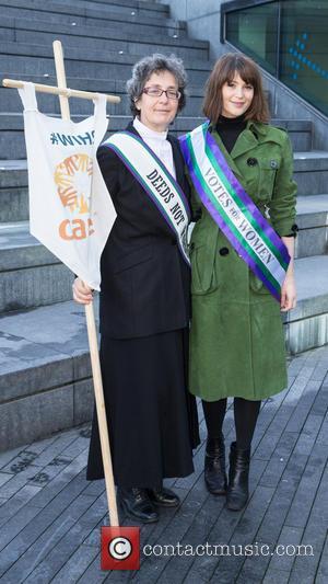 Gemma Arterton and Helen Pankhurst