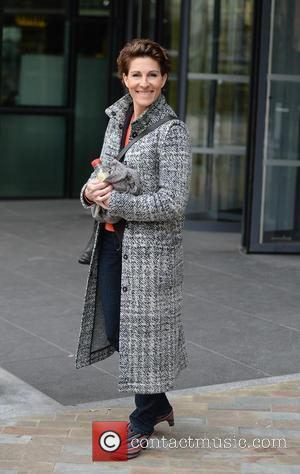 Tamsin Greig - Tamsin Greig leaves the BBC Studios at MediaCityUK after appearing on the BBC Breakfast show - Manchester,...