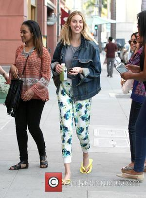 whitney port - Television personality, fashion designer, and author, Whitney Port leaving a nail salon wearing yellow flip flops and...