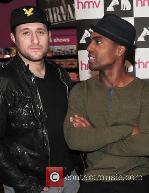 Antony Costa and Simon Webbe - Blue sign copies of their new album 'Colours' at HMV in Birmingham at HMV...