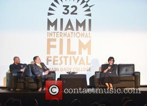 Kevin Sharpley, MiamiFF Executive Director Jaie Laplante and Cheryl Boone Isaacs