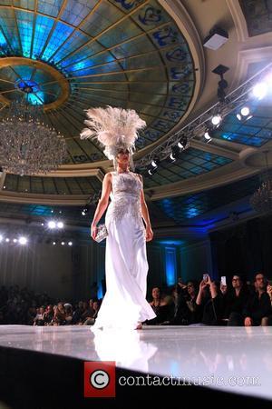 Courtney Bingham Sixx - Art Hearts Fashion Week L.A. Fall/Winter 2015 Designer - Sue Wong Presentation - Runway - Hollywood,...