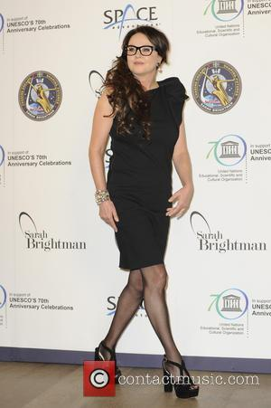 Sarah Brightman - Sarah Brightman attends a photocall ahead of the press conference on the plan for her to travel...