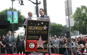 Jeffrey Katzenberg and Jim Parsons - Star of the comedy show 'The Big Bang Theory' Jim Parsons, who plays Sheldon...