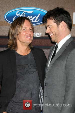 Keith Urban and Harry Connick Jr. - American Idol Season 14 Finalists Party - Arrivals at The District - Los...