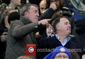 Jeremy Clarkson - Jeremy Clarkson watches the match between Chelsea vs. Paris Saint-Germain F.C. at Stamford Bridge. The Top Gear...