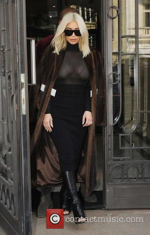 Kim Kardashian - Shots of the American reality TV star Kim Kardashian and her husband, rapper Kanye West as they...