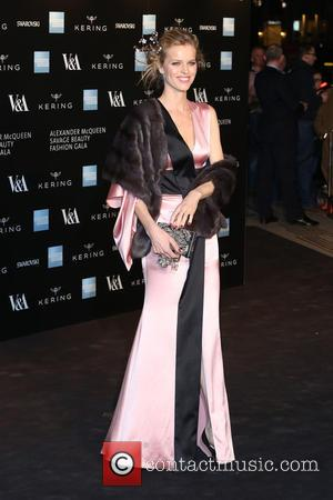 Eva Herzigova - A host of fashionable stars were photographed as they attended the Alexander McQueen: Savage Beauty Fashion Benefit...