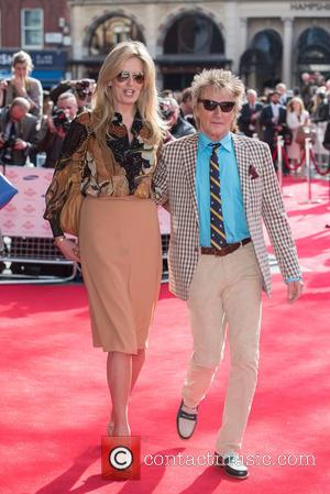 Penny Lancaster Stewart and Rod Stewart