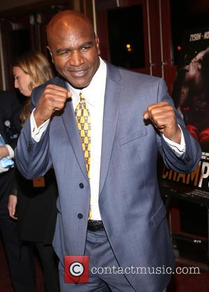 Evander Holyfield - Special screening of 'Champs' held at Village East Cinema - Arrivals at Village East Cinema - New...