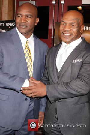 Evander Holyfield and Mike Tyson - New York screening of 'Champs' featuring Mike Tyson and Evander Holyfield. Writer/director Bert Marcus...