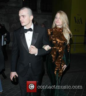 Rupert Friend and Aimee Mullins - 'Alexander McQueen: Savage Beauty' preview at the Victoria & Albert Museum - Departures -...