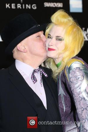 Pam Hogg and Stephen Jones - A host of fashionable stars were photographed as they attended the Alexander McQueen: Savage...