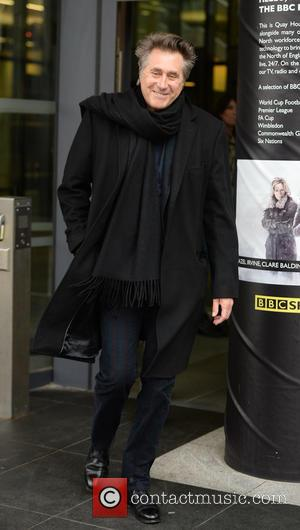 Bryan Ferry - Celebrities leaving the BBC Breakfast Studio's after appearing on the show - Manchester, United Kingdom - Thursday...