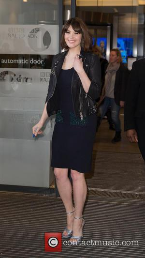 Gemma Arterton - Gemma Arterton arriving at the BBC Radio 1 studios to appear as a guest on the Nick...