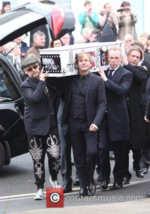 Boy George and Gary Kemp - The funeral of Visage star Steve Strange at All Saints Church, Porthcawl - Porthcawl,...