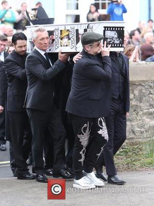 Martin Kemp and Boy George - The funeral of Visage star Steve Strange at All Saints Church, Porthcawl - Porthcawl,...