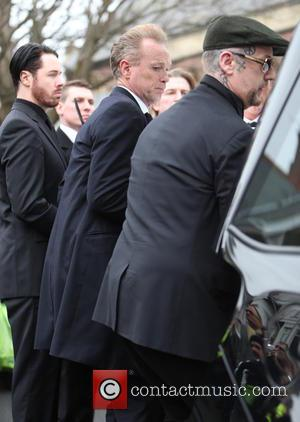 Gary Kemp and Boy George - The funeral of Visage star Steve Strange at All Saints Church, Porthcawl - Porthcawl,...