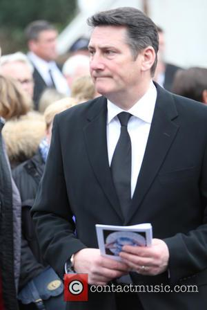 Tony Hadley - The funeral of Visage star Steve Strange at All Saints Church, Porthcawl - Porthcawl, United Kingdom -...