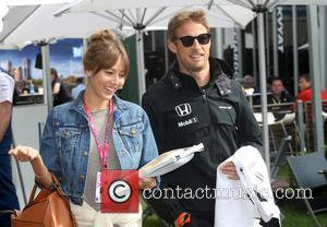 Jenson BUTTON and Jessica MICHIBATA - Formula One - Australian Grand Prix 2015 - Albert Park - Practice at Olympia...