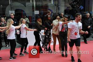 Dermot O'leary, Little Mix, Jade Thirlwall, Perrie Edwards, Leigh-anne Pinnock and Jesy Nelson