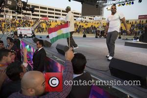 Nelly - Nelly performs live in concert at the Martyr Franso Hariri Stadium. The concert was a charity event to...