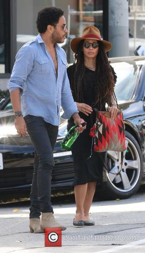 Lenny Kravitz and Lisa Bonet - Lenny Kravitz and his ex-wife Lisa Bonet go for lunch together at Gracia Madre...