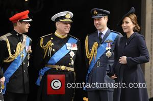 Prince Edward, Prince Andrew, Catherin Duches Of Cambridge and Prince William