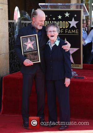 Ed Harris and Margaret Harris - Ed Harris is honored with a star on the Hollywood Walk of Fame at...