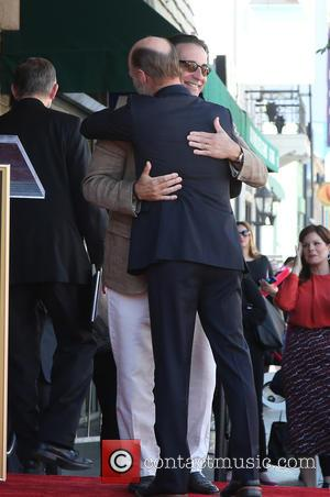 Ed Harris and Andy Garcia - The ceremony honoring Ed Harris with a Star on The Hollywood Walk of Fame...