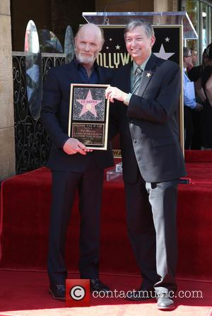 Ed Harris and Leron Gubler - The ceremony honoring Ed Harris with a Star on The Hollywood Walk of Fame...