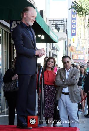 Ed Harris, Marcia Gay Harden and Andy Garcia - The ceremony honoring Ed Harris with a Star on The Hollywood...