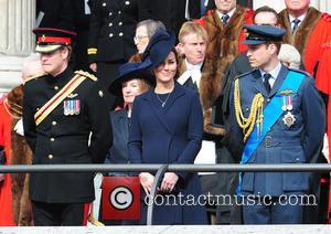 Kate Middleton and Prince William - Royals at the Remeberance ceremony at St Pauls at St Paul s Cathedral -...
