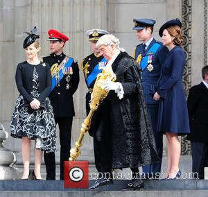 Prince Edward, Prince Andrew, Catherine Duchess Of Cambridge, Sophie, Countess Of Wessex and Prince William