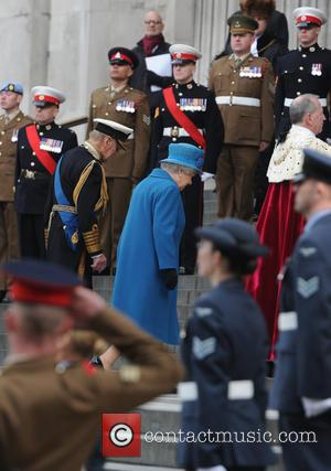 The Queen and The Duke of Edinburgh - Service of commemoration at St Paul's Cathedral to mark end of the...