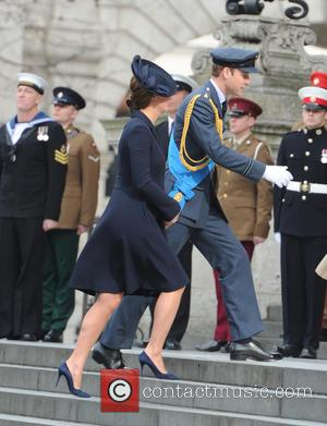 Duchess of Cambridge and Duke of Cambridge - Service of commemoration at St Paul's Cathedral to mark end of the...